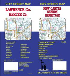 Buy map New Castle, Sharon, Hermitage, Lawrence and Mercer County, Pennsylvania by GM Johnson