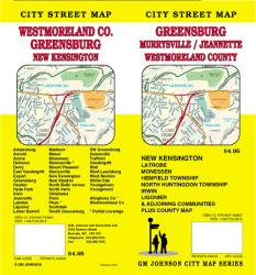 Buy map Westmoreland County, Greensburg, Jeannette and Murrysville, Pennsylvania by GM Johnson