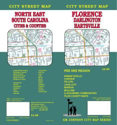 Buy map Florence, Darlington and Hartsville, South Carolina by GM Johnson from South Carolina Maps Store