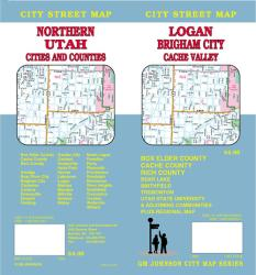 Buy map Logan, Brigham City and Northern Utah by GM Johnson from Utah Maps Store