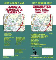 Buy map Winchester, Front Royal and Clarke County, Virginia by GM Johnson from Virginia Maps Store