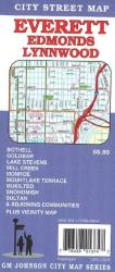 Buy map Everett, Edmonds and Lynnwood, Washington by GM Johnson from Washington Maps Store