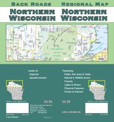 Buy map Wisconsin, Northern by GM Johnson from Wisconsin Maps Store