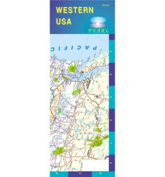 Buy map United States, Western, Pearl Map, laminated by GM Johnson from United States Maps Store