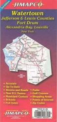 Buy map Watertown, New York with Jefferson and Lewis Counties by Jimapco from New York Maps Store