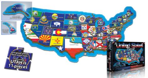 Buy map United States, Puzzle, 500 piece by Broader View from United States Maps Store