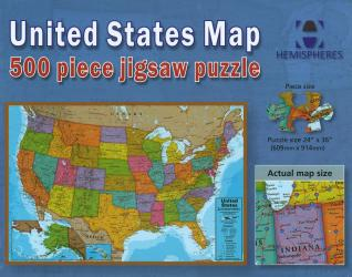 Buy map United States Map, 500 Piece Puzzle by Hema Maps from United States Maps Store