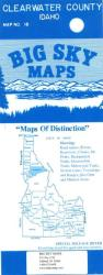 Buy map Clearwater County, Idaho by Big Sky Maps