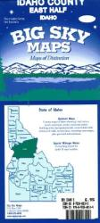 Buy map Idaho County, Idaho, east half by Big Sky Maps