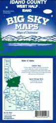 Buy map Idaho County, Idaho, west half by Big Sky Maps