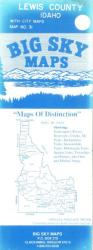 Buy map Lewis County, Idaho by Big Sky Maps in Idaho Map Store