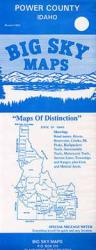 Buy map Power County, Idaho by Big Sky Maps from Idaho Maps Store