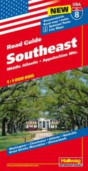 Buy map USA 8: Southeast, Mid-Atlantic and Appalachian Mountains by Hallwag from United States Maps Store