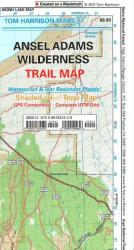 Buy map Ansel Adams Wilderness, California by Tom Harrison Maps from California Maps Store