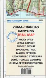 Buy map Zuma and Trancas Canyons, California by Tom Harrison Maps from California Maps Store