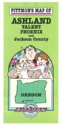 Buy map Ashland and Jackson County, Oregon by Pittmon Map Company from Oregon Maps Store