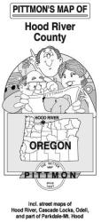 Buy map Hood River and Hood River County, Oregon by Pittmon Map Company from Oregon Maps Store