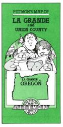 Buy map La Grande and Union County, Oregon by Pittmon Map Company from Oregon Maps Store