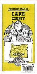 Buy map Lake County, Oregon by Pittmon Map Company from Oregon Maps Store