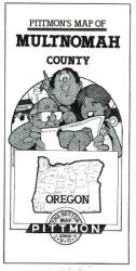 Buy map Multnomah County, Oregon by Pittmon Map Company from Oregon Maps Store