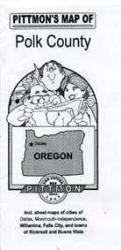 Buy map Polk County, Oregon by Pittmon Map Company from Oregon Maps Store