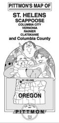 Buy map St Helens, Scappoose and Columbia Counties, Oregon by Pittmon Map Company from Oregon Maps Store