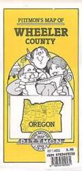 Buy map Wheeler County, Oregon by Pittmon Map Company from Oregon Maps Store