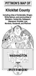 Buy map Klickitat County, Washington by Pittmon Map Company from Washington Maps Store