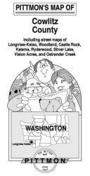 Buy map Longview, Kelso and Cowlitz County, Washington by Pittmon Map Company from Washington Maps Store