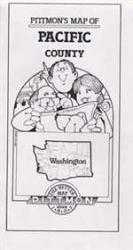 Buy map Pacific County, Washington by Pittmon Map Company from Washington Maps Store
