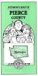 Buy map Pierce County, Washington by Pittmon Map Company from Washington Maps Store