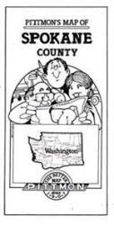 Buy map Spokane County, Washington by Pittmon Map Company