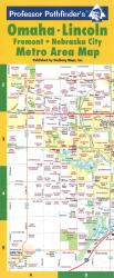 Buy map Omaha and Lincoln, Nebraska, laminated by Hedberg Maps from Nebraska Maps Store