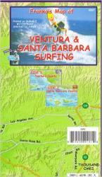 Buy map California Map, Santa Barbara and Ventura Surf, folded, 2007 by Frankos Maps Ltd. from California Maps Store