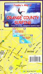 Buy map California Map, Orange County Surf, folded, 2007 by Frankos Maps Ltd.