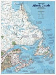 Buy map Atlantic Canada, The Making of, Tubed by National Geographic Maps from Canada Maps Store