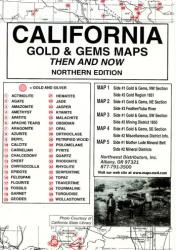 Buy map California, North, Gold and Gems, 5 Map Set, Then and Now by Northwest Distributors