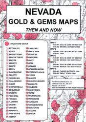 Buy map Nevada, Gold and Gems, 5-Map Set, Then and Now by Northwest Distributors from Nevada Maps Store