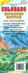 Buy map Colorado, Expanded by GTR Mapping from Colorado Maps Store
