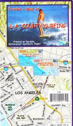 Buy map California Map, L.A. County Surf, folded, 2007 by Frankos Maps Ltd. from California Maps Store