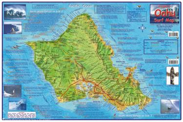 Buy map Oahu, Hawaii, 2009 Surf Map, Laminated by Frankos Maps Ltd.