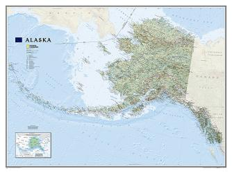 Buy map Alaska, Laminated by National Geographic Maps from Alaska Maps Store