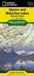 Buy map Glacier and Waterton Lakes National Parks, Map 215 by National Geographic Maps