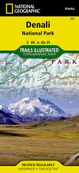 Buy map Denali National Park, Map 222 by National Geographic Maps from Alaska Maps Store