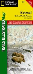 Buy map Katmai National Park and Preserve, Map 248 by National Geographic Maps from Alaska Maps Store