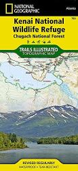 Buy map Kenai National Wildlife Refuge and Chugach National Forest, Map 760 by National Geographic Maps from Alaska Maps Store