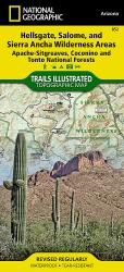 Buy map Hellsgate, Salome and Sierra Ancha Wilderness by National Geographic Maps from Arizona Maps Store