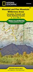 Buy map Mazatzal and Pine Mountain Wilderness Areas, Map 850 by National Geographic Maps from Arizona Maps Store
