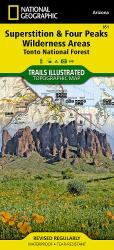 Buy map Superstition and Four Peaks Wilderness Areas, Map 851 by National Geographic Maps from Arizona Maps Store
