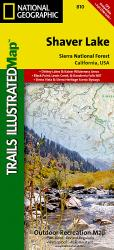 Buy map Shaver Lake and Sierra National Forest,  Map 810 by National Geographic Maps from California Maps Store